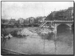 River Marne Destroyed Bridges–Western Front Witness– Battle of the Marne September 1914– British Army WW1