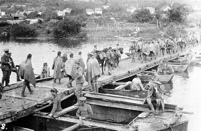 British Soldiers Re-Cross River Marne–Western Front Witness– Battle of the Marne September 1914– British Army WW1