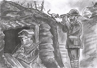 Cartoon Naïve New Army Units–Western Front Witness–WW1 Recruitment-Pals Battalions-Kitcheners Army