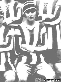 Lily Parr Dick Kerr Ladies Team–Western Front Witness– WW1 Sporting Contributions-Football Remembers