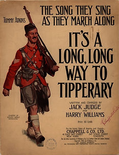 Tipperary Song Poster–Western Front Witness–WW1 Music-Songs from WW1-World War 1 Music