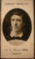 Williams Welsh Rugby Player–Western Front Witness– WW1 Sporting Contributions-Football Remembers