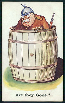 Poster German Beer Barrel–Western Front Witness–Life in Trenches-Trench Warfare WW1-WW1 Trench Life