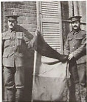 Captured German Flag 1915–Western Front Witness– WW1 PoW-Great Escapes-PoW Stories-Soldier Refugees