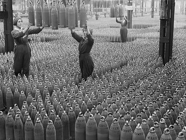 Munitionettes Producing Shells–Western Front Witness– Weaponry in WW1-WW1 Tactics-WW1 artillery-WW1 Snipers