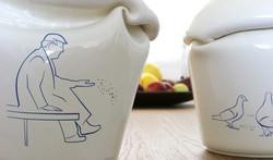 Golden age vase