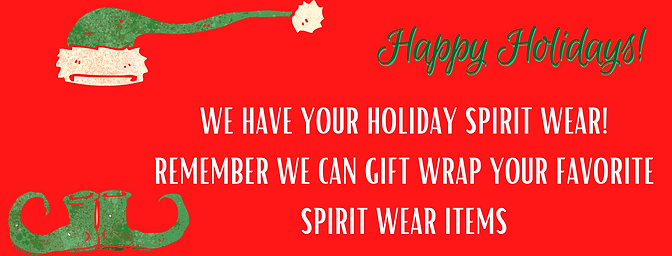 WE HAVE YOUR HOLIDAY SPIRIT WEAR! REMEMB