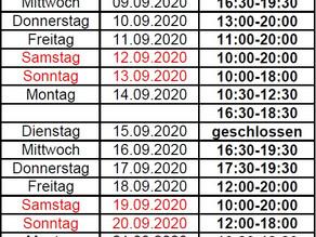 Neue Öffnungszeiten der Sport- und Freizeitanlage des SSB Oberhausen!
