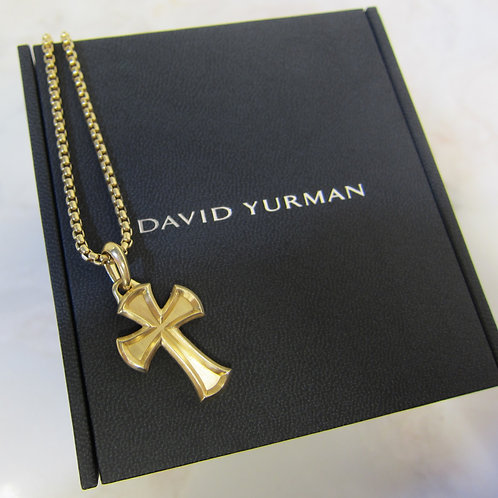 David Yurman 18k Cross Necklace