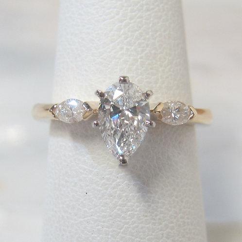 Pear Shape Diamond & Marquise Engagement Ring