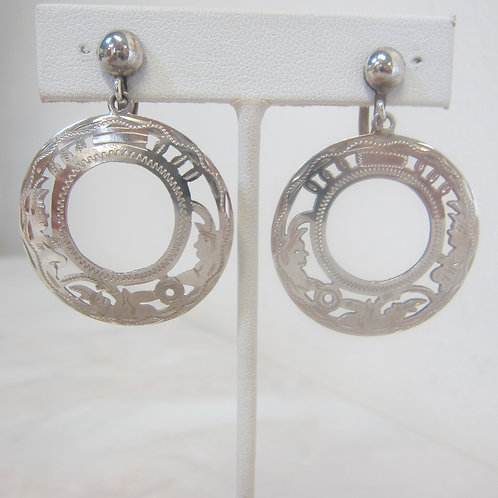 Vintage Guatemala 900 Silver Earrings