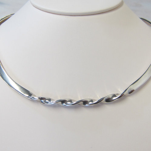 Silver Ladies Choker Necklace