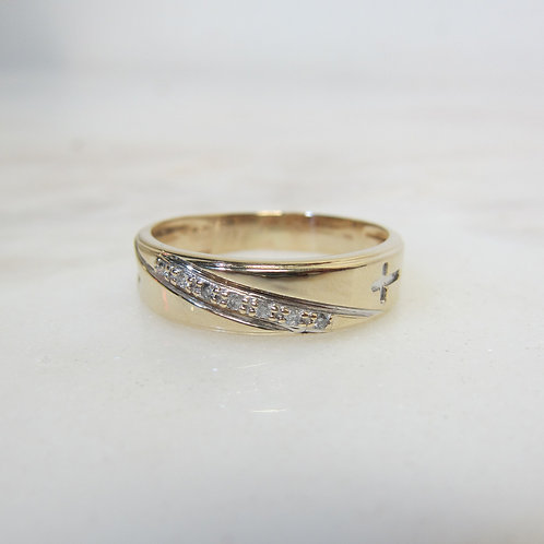 14k Men's Diamond Ring Band