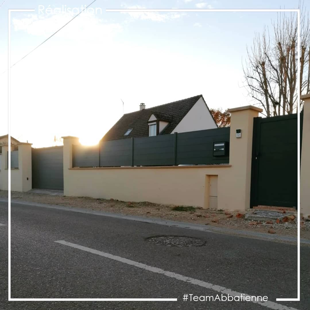 Portail, portillon, clôtures aluminium