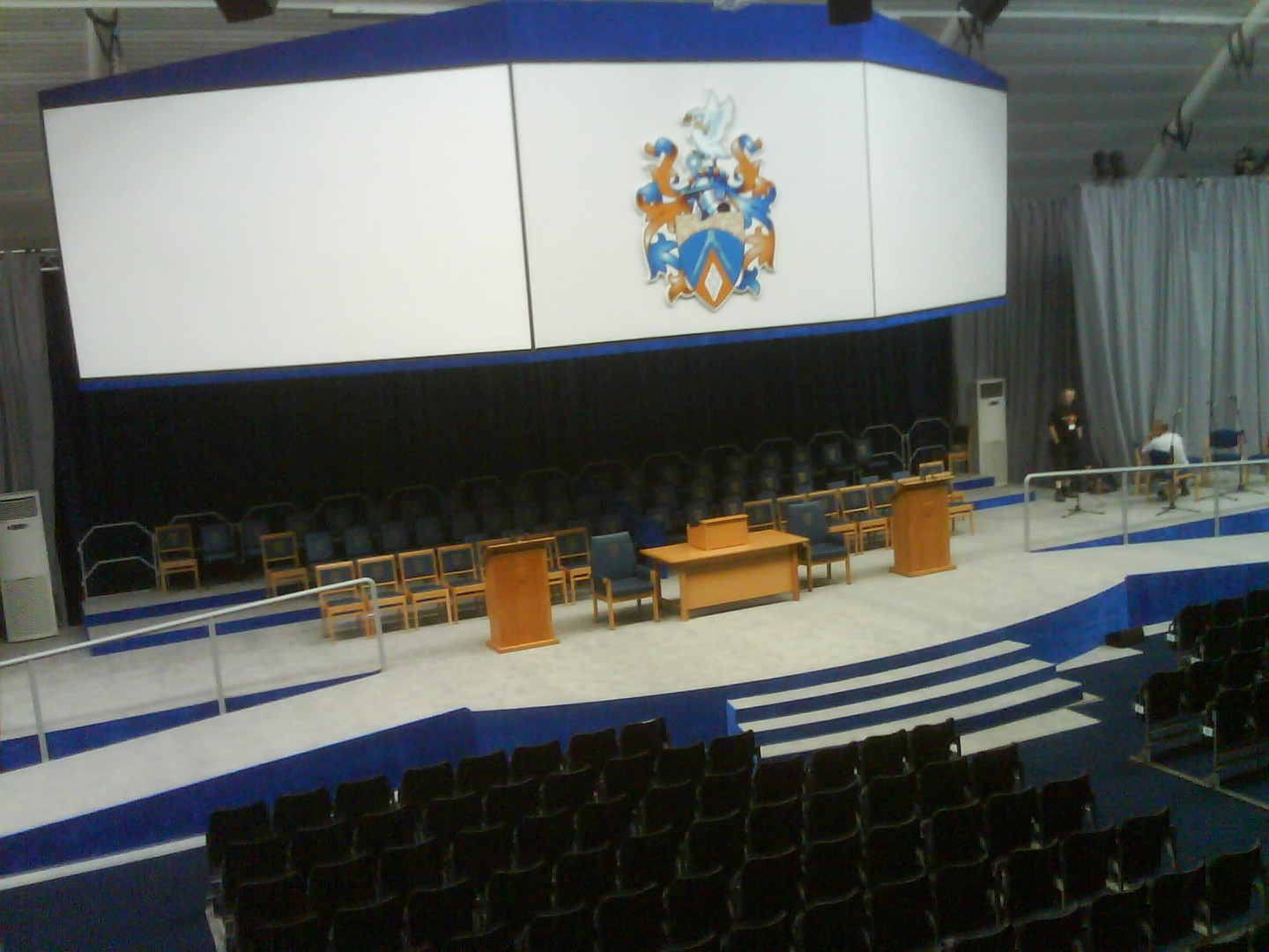 Large Graduation Stage with Ramps and Steps