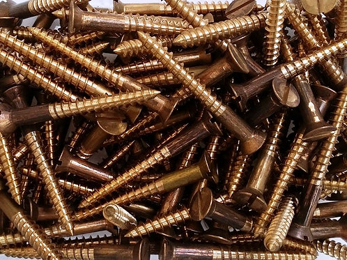 "3/4"" 6's Silicon Bronze csk Slotted Screws x 100"
