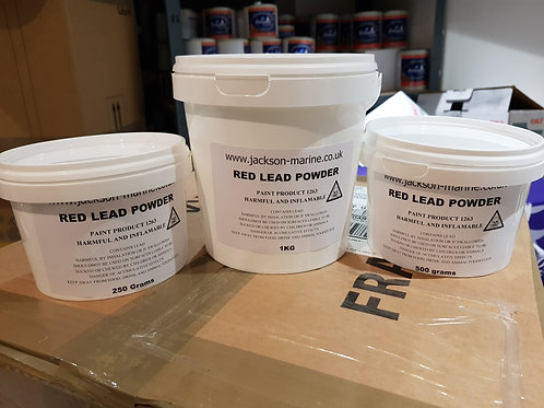Red Lead Powder 1KG to make Red Lead Putty stopping Boat Seams Next Day Delivery