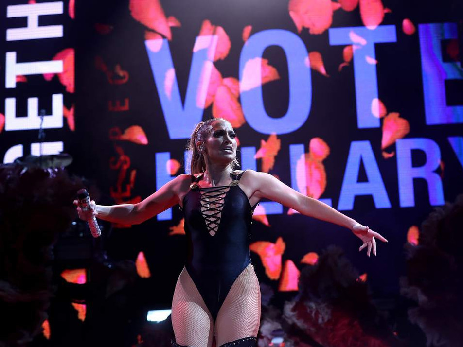 JLO Let's Get Loud Voting Rally