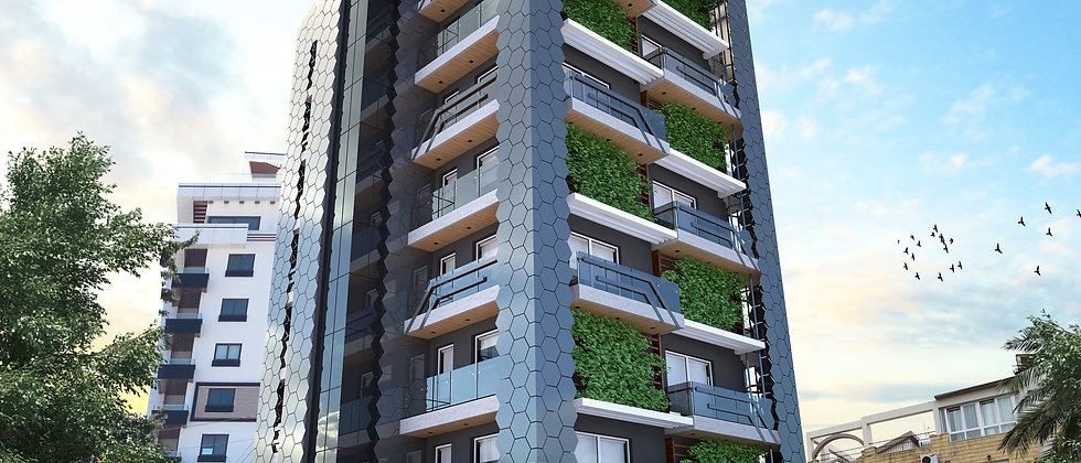 BeeTower One floor One Flat 120m2 all citys panaromic view