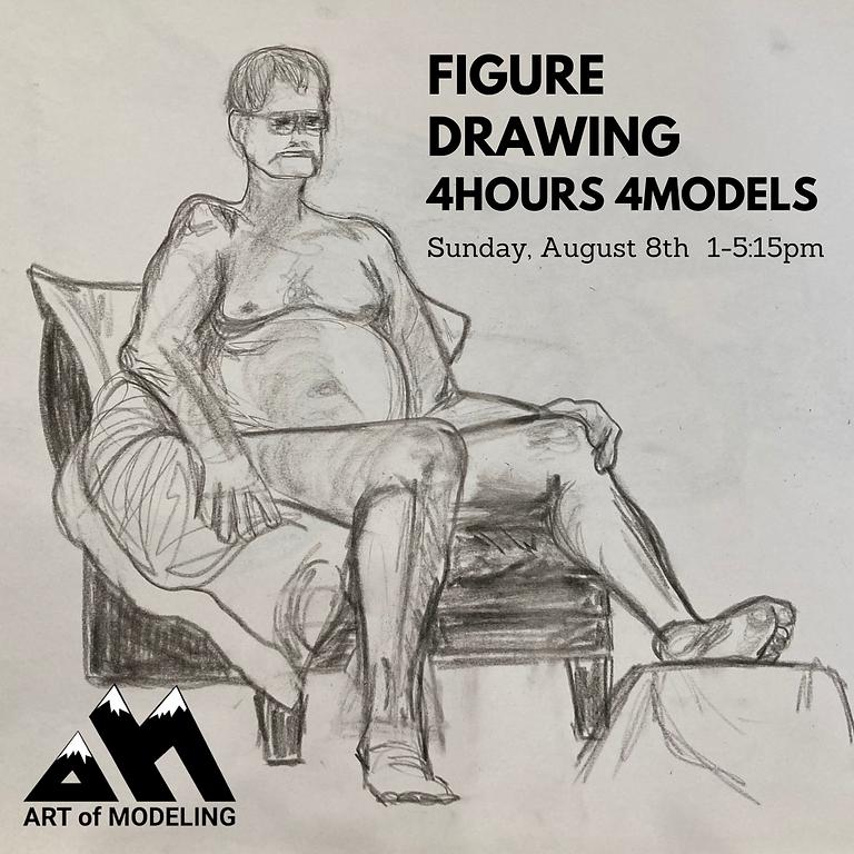 Figure Drawing Marathon August 8