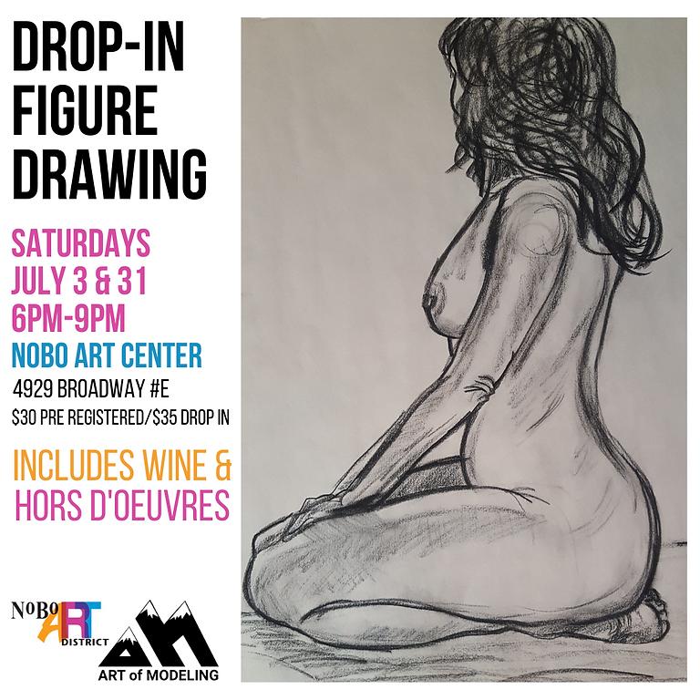 Figure Drawing Saturdays July 3 & 31