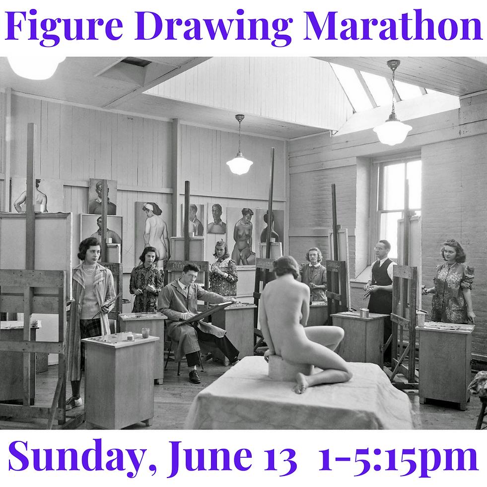 Next Weekend! Figure Drawing Marathon.pn