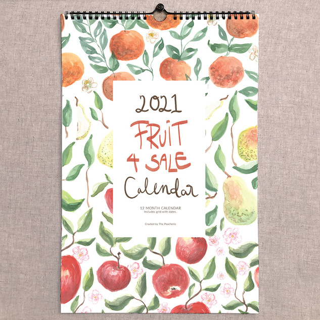 2021 Fruit for Sale Calendar
