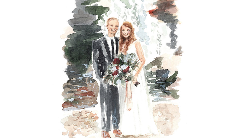 Custom Watercolor Couple Painting
