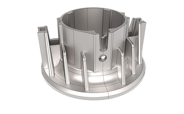 деталь корпуса, твердотельная модель, CAD