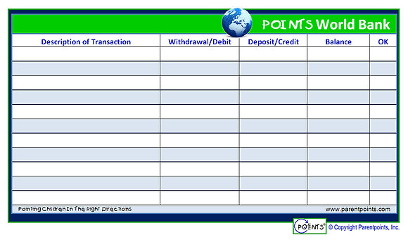 Points World Bank Card (50 Sheets Per Pack)