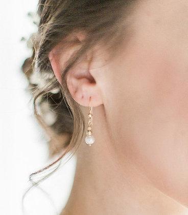 """Boucles d'oreilles """"Jasmine"""" + EN CADEAU 1 POCHON mariée ou témoin"""