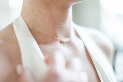 Bijoux mariée - Collier Mariée - Blanche - plaqué or 14K et perles de culture
