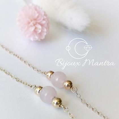 Bracelet Mantra & pierre énergétique (au choix)