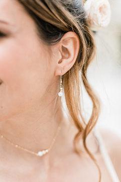 Bijoux mariée - Boucles d'oreilles mariée sobre et chic perle de culture