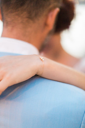 "Bracelet ""Meghan"" + EN CADEAU 1 POCHON mariée ou témoin"