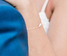 Bijoux mariée - Bijoux Mariée - Bracelet mariée sobre et chic perle de culture