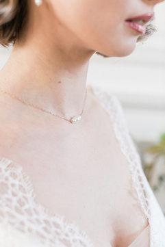 Bijoux mariée - Colier mariée raffiné perles de culture