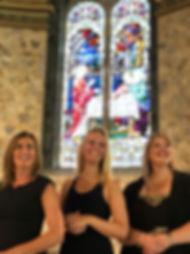 Emma-Kate Tobia, Georgina Docherty & Larissa Cairns at Our Lady Of Mount Carmel Catholic Church, Middle Park, Melbourne