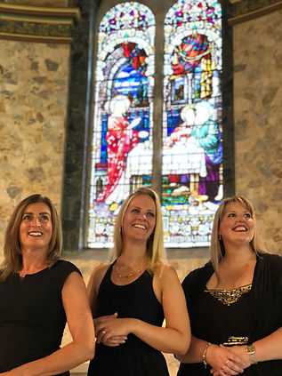 Emma-Kate Tobia, Georgina Docherty & Larissa Cairns at Our Lady Of Mount Carmel Catholic Church, Middle Park, Melbourne