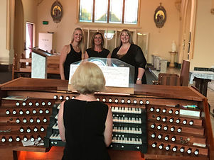 Georgina Docherty, Larissa Cairns, Emma-Kate Tobia, Three Sopranos Music, Our Lady of Mount Carmel, Middle Park
