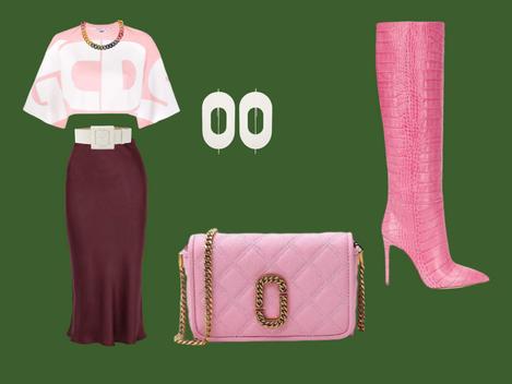 How to match a burgundy skirt.