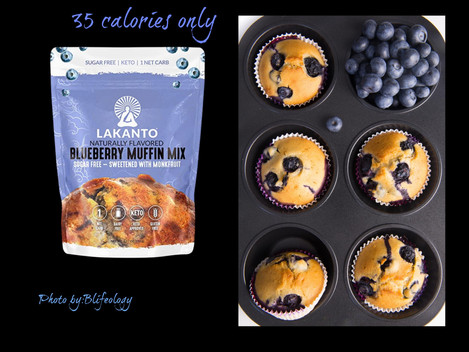 Diabetic-Ketogenic and Weight Friendly Blueberry Delicious Muffins Mix.