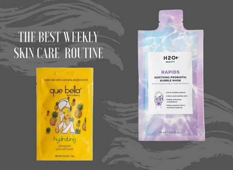 Facial masks for weekly skin care routine.