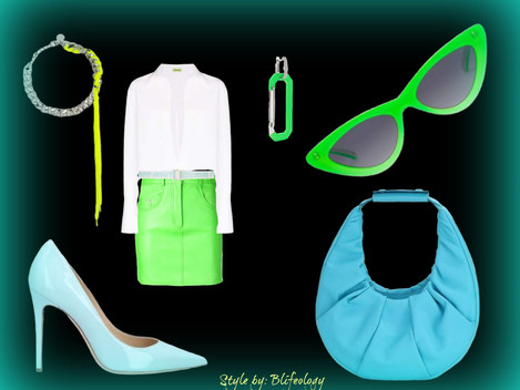Striking Neon  for a Summery  Look-Style by Blifeology