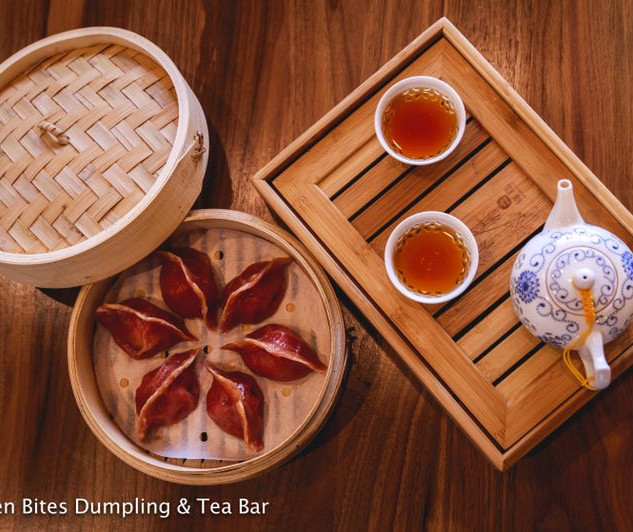 Red Beet Dumplings with Red Tea