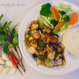 Basil Chicken Lunch Combo