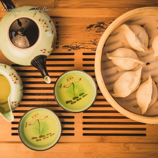 Green Tea Set with Dumplings