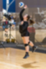 Sporting South Photography Volleyball Player jump serving bll action image