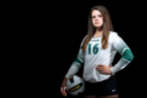 Volleyball player portrait sports photography black background