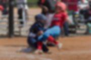 Sporting South Photography Softball Player sliding home action image